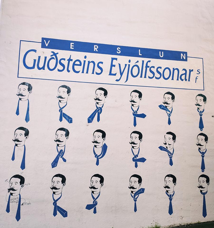 reykjavik verslun wiązanie krawata