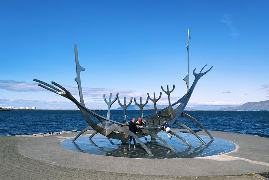 sun voyager islandia reykjavik rzeźba