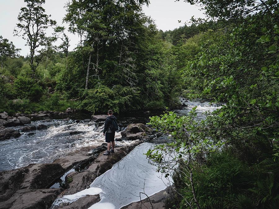 rogie falls loch ness wodospady w Szkocji