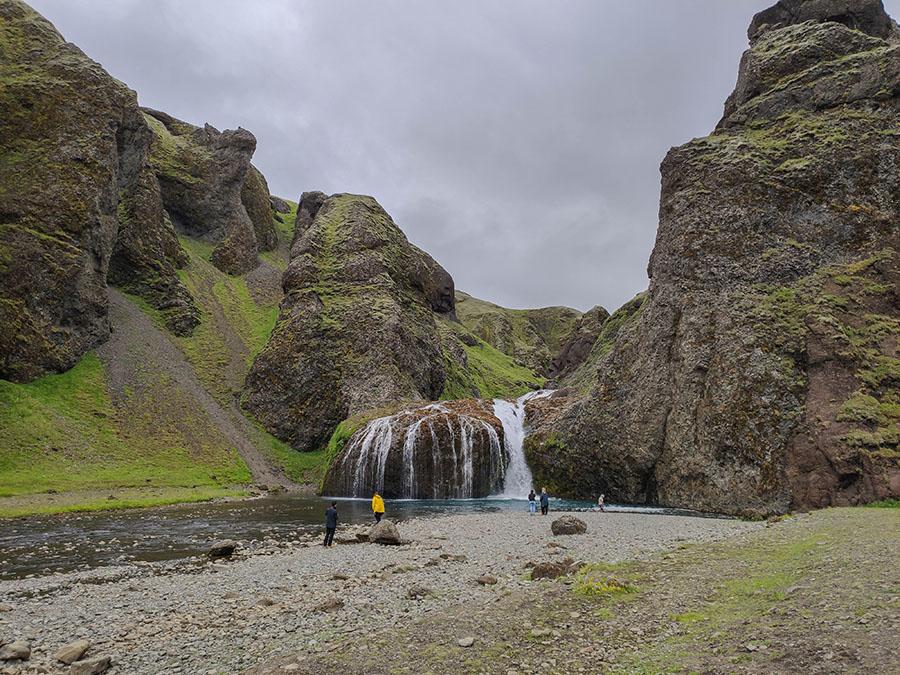 stjornarfoss wodospad islandia