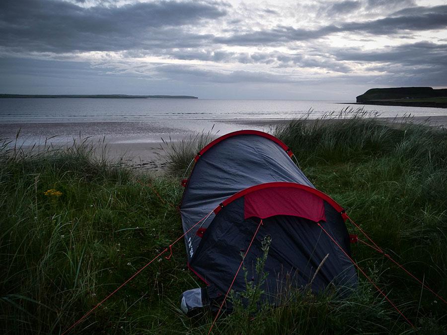 wild camping w Szkocji nocleg na dziko