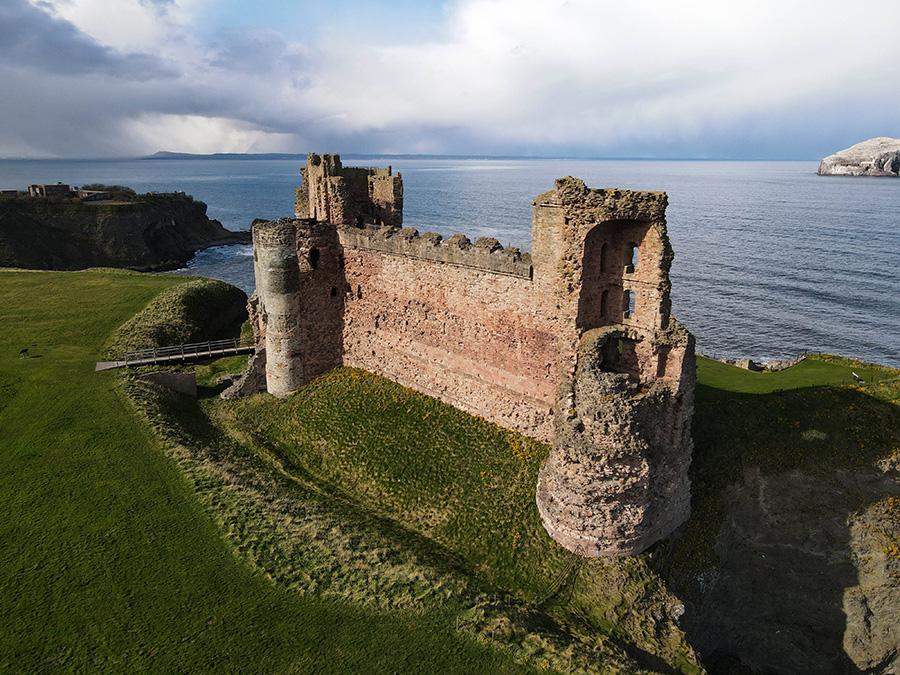 tantallon castle zamki w Szkocji