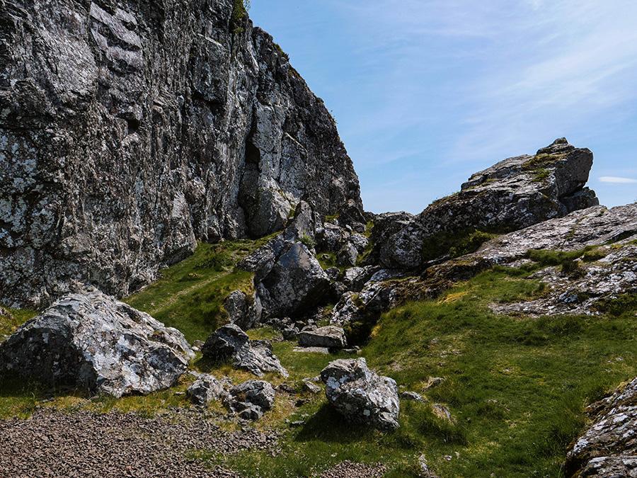 The Whangie Loch Lomond Szkocja poza utartym szlakiem