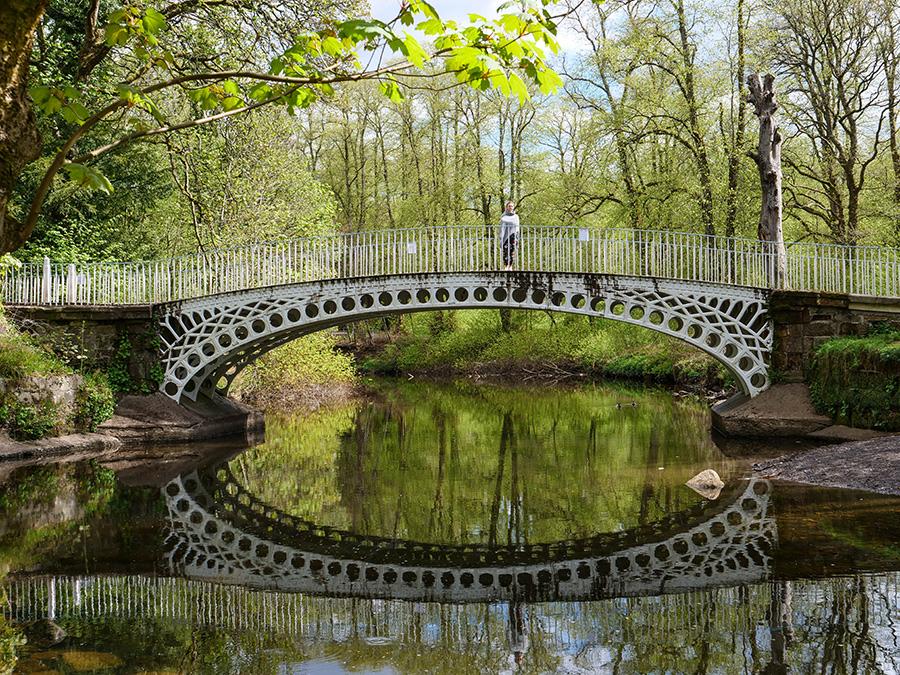 Linn Park wodospad i parki w Glasgow