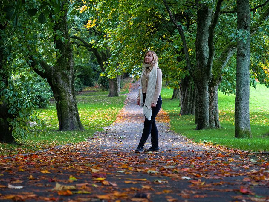 tollcross park jesień w szkocji
