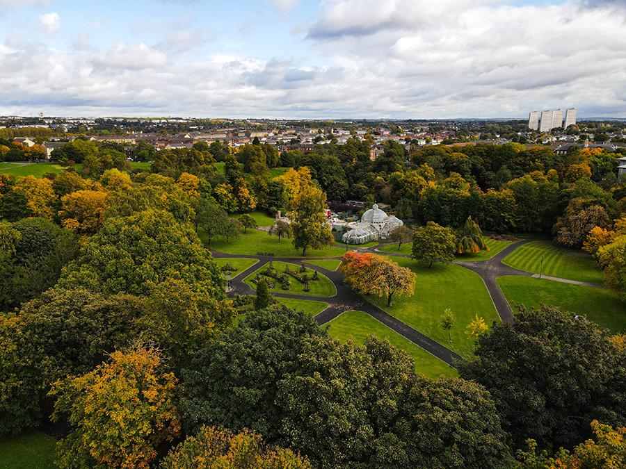 tollcross park mansionhouse jesień w szkocji