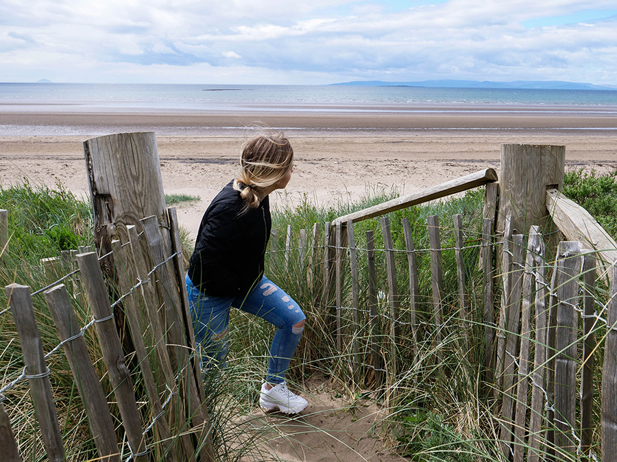 troon plaże w szkocji atrakcje