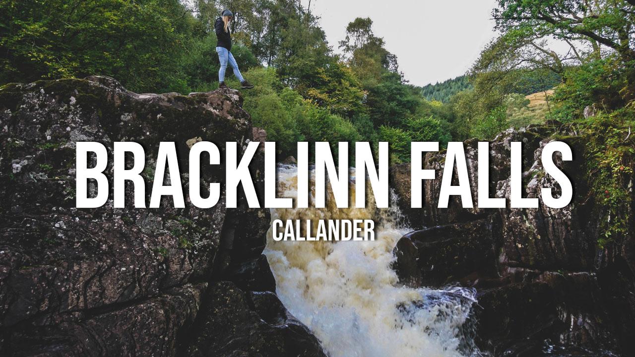 Niesamowite wodospady Bracklinn Falls w Callander